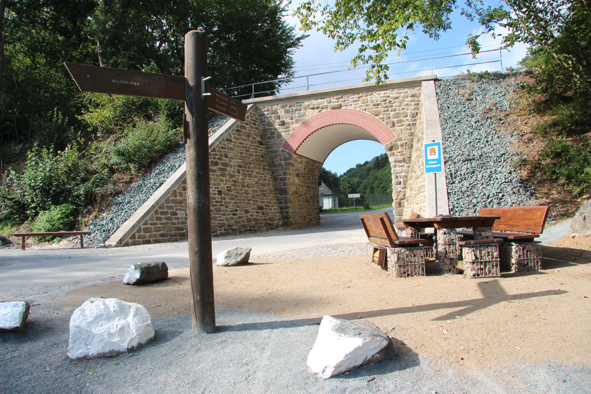Rundbogenviadukt in Neukirchen © Historischer Verein Neukirchen, Foto: Peter Schubert